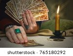 tarot cards and fortune teller... | Shutterstock . vector #765180292