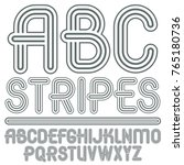 vector capital modern alphabet...   Shutterstock .eps vector #765180736