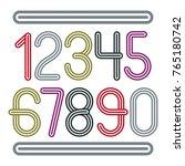 vector  trendy numbers...   Shutterstock .eps vector #765180742