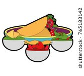 isolated burrito design | Shutterstock .eps vector #765183142