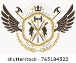 vector illustration of old... | Shutterstock .eps vector #765184522
