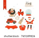 hand drawn vector abstract fun... | Shutterstock .eps vector #765189826