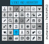 science and laboratory icon set | Shutterstock .eps vector #765193912