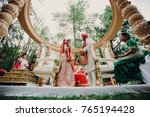 indian groom dressed in white... | Shutterstock . vector #765194428