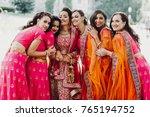 beautiful indian bride in red... | Shutterstock . vector #765194752
