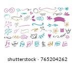 handdrawn vector doodle set.... | Shutterstock .eps vector #765204262
