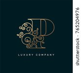 vector graphic elegant logotype ... | Shutterstock .eps vector #765204976