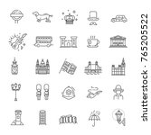 london icons set. england  thin ... | Shutterstock .eps vector #765205522