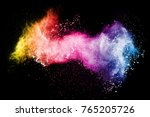 abstract color powder explosion ... | Shutterstock . vector #765205726