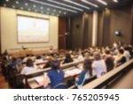 blurred business people forum... | Shutterstock . vector #765205945