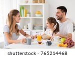 family  eating and people... | Shutterstock . vector #765214468