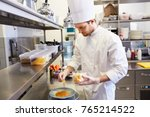 food cooking  profession and... | Shutterstock . vector #765214522