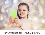 people  children and technology ... | Shutterstock . vector #765214792