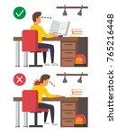 neck pain  student studying... | Shutterstock .eps vector #765216448