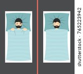 man with sleep problems and...   Shutterstock .eps vector #765223942