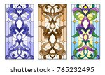 set of illustrations of stained ... | Shutterstock .eps vector #765232495