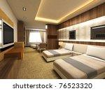 Stock photo modern bedroom 76523320