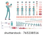 male nurse in hospital uniform... | Shutterstock .eps vector #765238516
