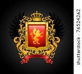 coat of arms. vector... | Shutterstock .eps vector #76524262