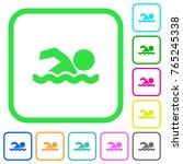 swimming man vivid colored flat ...   Shutterstock .eps vector #765245338