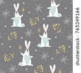 cute new year seamless pattern... | Shutterstock .eps vector #765249166