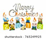 abstract merry chrismas and... | Shutterstock . vector #765249925