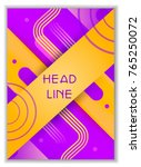 cover  card with space for... | Shutterstock .eps vector #765250072