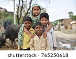 group of children from rural... | Shutterstock . vector #765250618