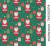 colorful seamless christmas... | Shutterstock .eps vector #765252376