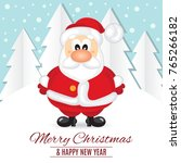 christmas card. funny postcard... | Shutterstock .eps vector #765266182