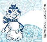 snowman. vector illustration. | Shutterstock .eps vector #765267478