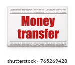 finance concept  newspaper... | Shutterstock . vector #765269428