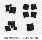set of square vector photo... | Shutterstock .eps vector #765276448