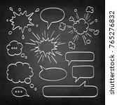 set of speech bubbles. chalk... | Shutterstock .eps vector #765276832