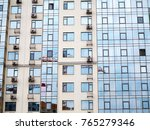sky above building crane at... | Shutterstock . vector #765279346