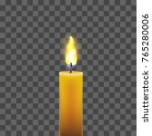 candle with fire isolated on... | Shutterstock .eps vector #765280006