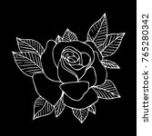 rose icon illustration. doodle... | Shutterstock . vector #765280342