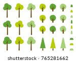 vector color forest set.... | Shutterstock .eps vector #765281662