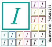 italic font type color glass... | Shutterstock .eps vector #765283996