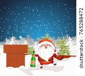 christmas santa claus with a... | Shutterstock .eps vector #765288472