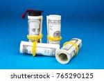 graduation mortarboard and...   Shutterstock . vector #765290125