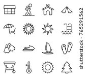 thin line icon set   market ... | Shutterstock .eps vector #765291562