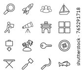 thin line icon set   magnifier  ... | Shutterstock .eps vector #765291718