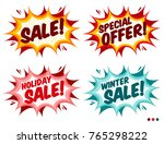 sale banners. isolated... | Shutterstock .eps vector #765298222