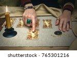 tarot cards and fortune teller... | Shutterstock . vector #765301216