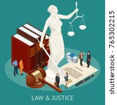 isometric law and justice... | Shutterstock .eps vector #765302215