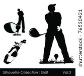 golf and golfers | Shutterstock .eps vector #76530421