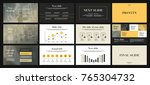 black and deep yellow elements... | Shutterstock .eps vector #765304732