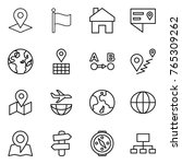 thin line icon set   pointer ... | Shutterstock .eps vector #765309262