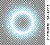 light ring with stardust ... | Shutterstock .eps vector #765312445